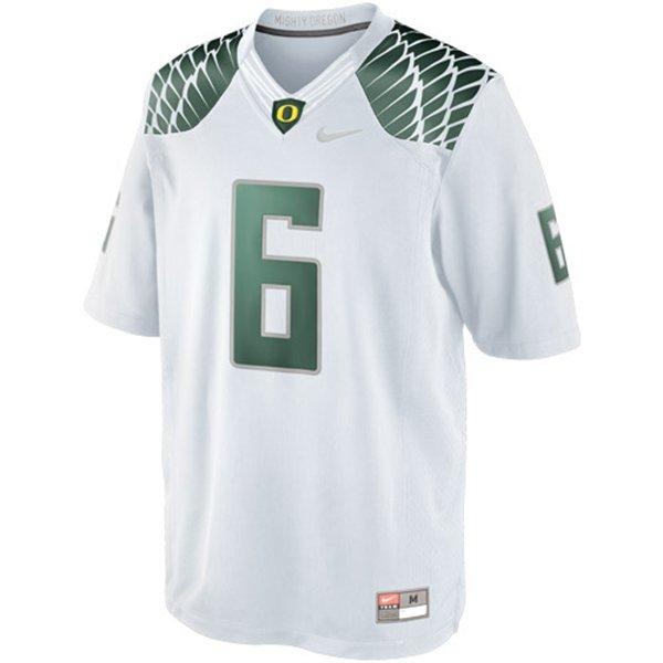 best cheap 08131 2c67f Nike Oregon Ducks #6 Limited Football Jersey - White ...